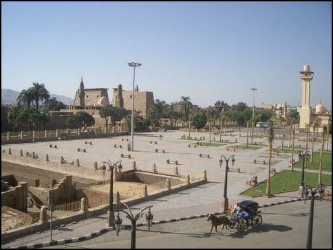 Luxor temple area